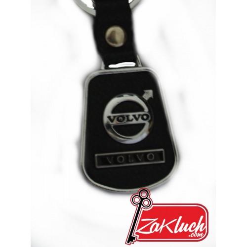 VOLVO - заоблен ключодържател, изработен от еко кожа