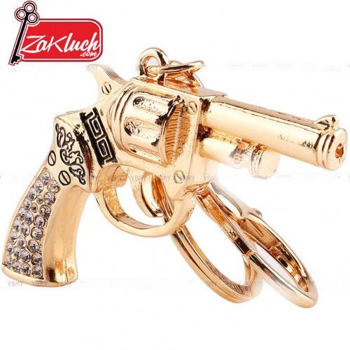 Златист ключодържател револвер
