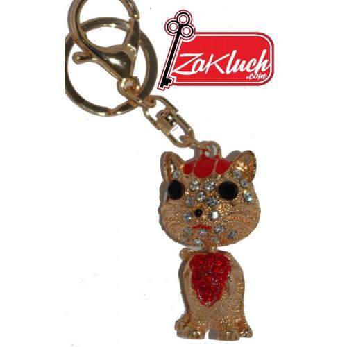Златисто котенце - триизмерен ключодържател