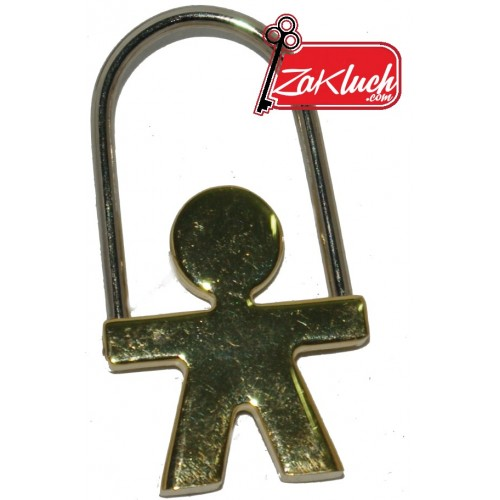 Златисто момченце - метален ключодържател