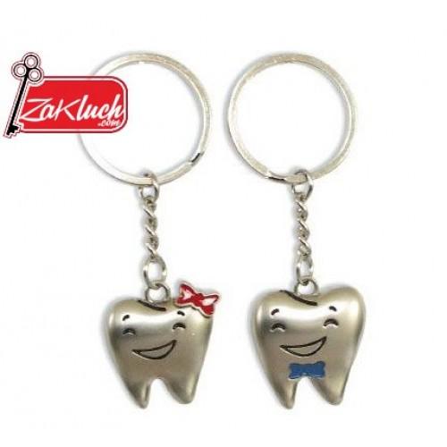Зъбки - двоен ключодържател