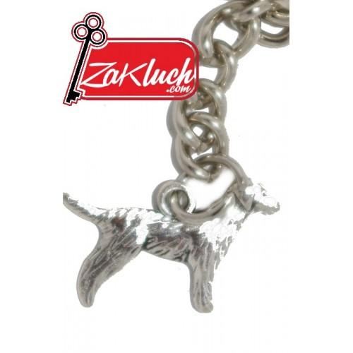 Куче - метален ключодържател с две лица