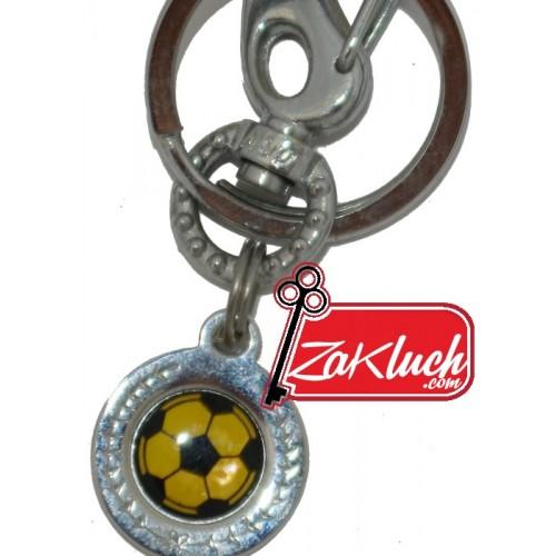 Футболна топкта - метален ключодържател