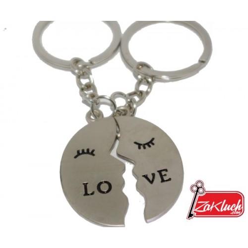 Любовен ключодържател - двоен